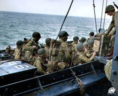 American troops on D-Day, June 1944 by Marina Amaral