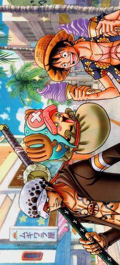 Trafalgar D Water Law Monkey D Luffy Tony Tony Chopper Straw Hat Crew Pirates Mugiwaras One Piece One Piece Figure, One Piece Manga, Law One Piece, Zoro One Piece, One Piece World, One Piece Chopper, All Anime, Anime Manga, One Piece Main Characters