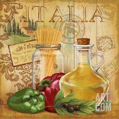 Italian Kitchen II Art Print by Conrad Knutsen at Art.com