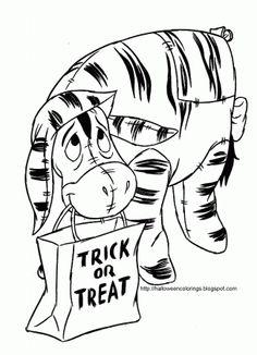 eeyore as tigger free disney halloween coloring pages halloween disney