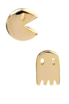 Pacman Earrings .........  want! :)