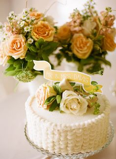I have no idea which board to put this on, but I love the cake and the roses and the banner!