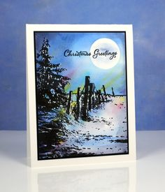 Heather Telford for Penny Black -tranquil sky; Nov 2016 #heathertelford #pennyblack #christmascard