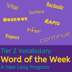 Differentiated Tier 2 Vocabulary program. Tier 2 Vocabulary words are words that cross domains and are necessary for understanding academic concepts, but they are not words that are found in everyday social language. This makes them especially tricky for