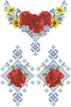 Заготовка для Детской блузки Маки Орнамент, БДд-003, Барвиста Вишиванка