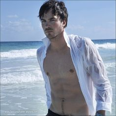 Wet and wild abs / Ian sexiest man alive