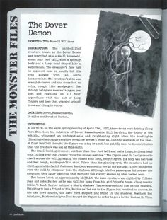 The Dover Demon pg 1