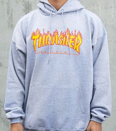 ed3e86e701cc How to Ignore Trends and Look Like a Badass  A Rihanna Case Study. Thrasher  MagazineSweater HoodieGrey HoodieThrasher Flame ...