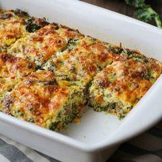 Sweet Potato, Sausage, Kale Breakfast Casserole