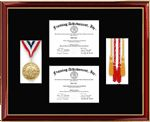 Certificate Frames Lithograph Diploma Frame Award Graduation Gifts Medallion Custom Framing College University Honors Degree Graduate Gift S...
