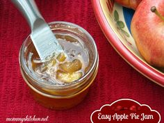 Easy Apple Pie Jam - Perfect recipe for fall apples.