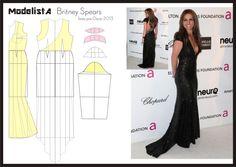 Vestido usado pela Britney Spears na festa pós Oscar 2013