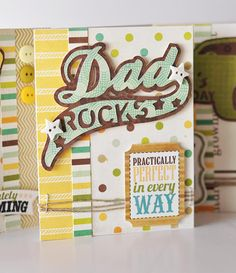 """""""Dad Rocks"""" card made using the new Cricut Craft Room Exclusive: Father's Day Best Dad Ever! #cricut"""