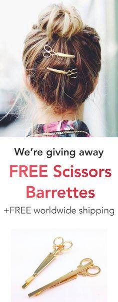 Free Scissors Barrettes