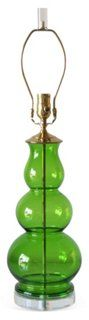 Chartreuse Glass Lamp