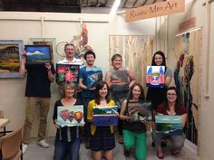 Whatever the occasion, our paint parties are a fun place to connect. This party had some couples on dates, and some women enjoying girls night!