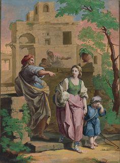 Stredoeurópsky maliar z 18. storočia - Zapudenie Hagar s Izmailom