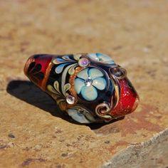 Ashton Jewels - Lydia Workman Muell Focal Bead - DESTASH of koregons artist bead collection by koregon on Etsy