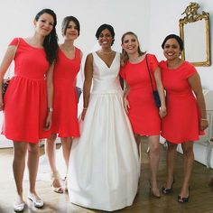 Custom bridesmaids dresses by Atelier Charlotte Auzou. Photo by Annie Gozard Photographie