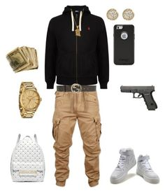 """""""(Hustle Time)"""" by leonar-287 ❤ liked on Polyvore featuring Polo Ralph Lauren, G-Star Raw, Jamie Wolf, Nixon, NIKE, Gucci and Michael Kors"""
