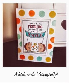 Stampinbell Papercraft - Stampin'Up! UK Independant Demostrator: A little smile to make you feel better