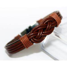 Pulseira Bracelet Couro Masculina Turco Com Fecho Magnético R$ 39.89 - LUIS CRUZ