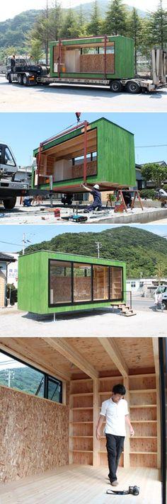 maison container exemples de constructions conomiques en containers small houses. Black Bedroom Furniture Sets. Home Design Ideas