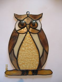 PATTERN only - Owl stained glass. $5.00, via Etsy.