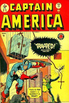 Captain America Comics #71 (Mar '49) cover by Al Avison & Carl Pfeufer. #comics