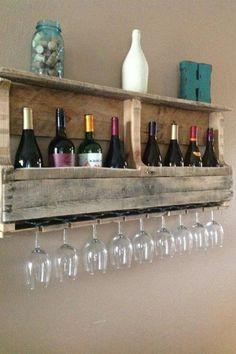 Wine rack diy pallet boards