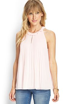 Pleated Georgette Halter Top | FOREVER21 #F21Contemporary