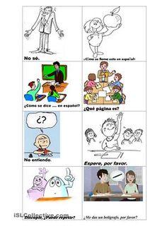 Frases en clase de español.