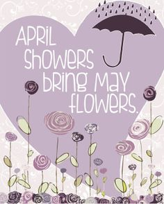 April Showers bring May Flowers 16 x 20 Nursery Print
