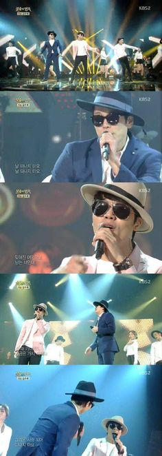 Homme (Changmin & Lee Hyun) get funky on 'Immortal Song 2' | http://www.allkpop.com/article/2015/02/homme-changmin-lee-hyun-get-funky-on-immortal-song-2