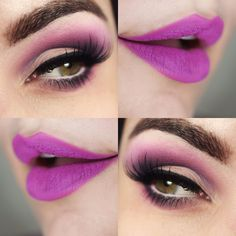 Tutorial – maquiagem opaca colorida de primavera