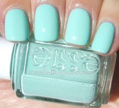 Essie Mint Candy Apple Nail Polish, addicted to this color! Love Nails, How To Do Nails, Pretty Nails, Fun Nails, Mint Candy Apples, Essie Nail Polish, Nail Polish Colors, Nail Polishes, Mint Green