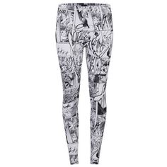 McQ Alexander McQueen Women's Printed Leggings - Manga Print found on Polyvore