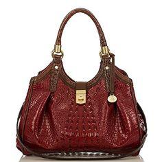 Elisa Hobo Bag<br>Carmine Red Tri-Texture- BRAHMIN