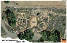 All towns need more riding areas like this, good work Truckee, California. Dirt Bike Track, Dirt Bike Gear, Bmx Dirt, Mtb Trails, Mountain Bike Trails, Jump Park, Motocross Tracks, Skate Ramp, Pit Bike