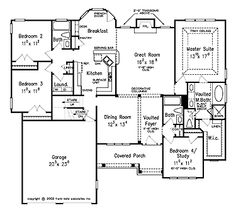 House Plans #AFLFPW07683 4 bdroom french cottage 2054 square feet