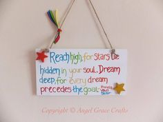 Wooden Plaque with quote