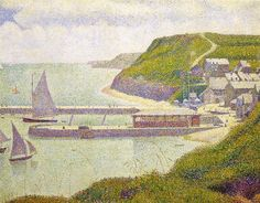 Harbour at Port-en-Bessin at High Tide 1888 Canvas Art - Georges Seurat x Georges Seurat, Oil On Canvas, Canvas Art, Canvas Prints, Art Prints, Paul Signac, Paul Gauguin, Georgia O'keeffe, World Famous Artists