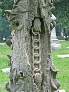 Linking Heaven and Earth    Crown Hill Cemetery, Indianapolis, Indiana.  This is so full of symbolism and may be a Woodmen of the World grave.