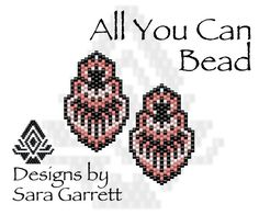 Peyote Earrings Pattern 253 Bead Weaving INSTANT DOWNLOAD PDF Odd Count by AllYouCanBead on Etsy