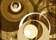 Retro Circles - Wall Mural & Photo Wallpaper - Photowall
