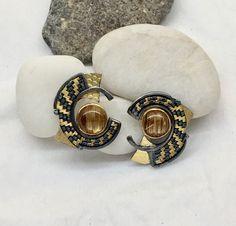 Sally, Hand Weaving, Cufflinks, Wings, Earrings, Silver, Gold, Accessories, Jewelry