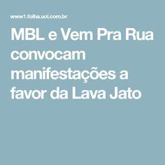 """Os grupos MBL (Movimento Brasil Livre) e Vem Pra Rua, dois dos principais organizadores das manifestações que pediram o impeachment de Dilma Rousseff (PT) em 2016, anunciaram nesta segunda-feira (13) a convocação de novas manifestações para o dia 26 de março. Nas redes sociais, o MBL listou as pautas do protesto, o primeiro chamado pelo movimento em 2017: """"bom andamento"""" da Lava Jato, fim do foro privilegiado, fim do estatuto do desarmamento e pelas reformas trabalhista e da Previdência."""