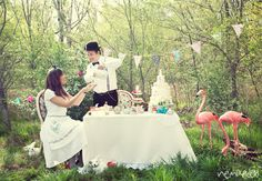 I loved shooting this engagement session in Wonderland!