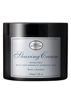 The Art of Shaving® 'Ocean Kelp' Shaving Cream-this is the best men's shaving cream hands down.  This jar lasts a long time and it makes the face so smooth.  I like this scent the best and Sandalwood second best.
