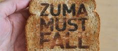 """DA Voter Thrilled After """"Zuma Must Fall"""" Appears On Her Toast"""